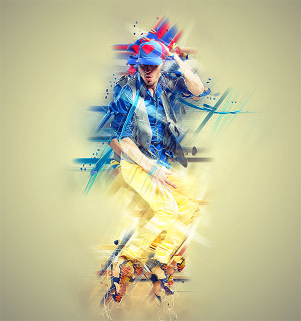 Abstract Photoshop Action Design