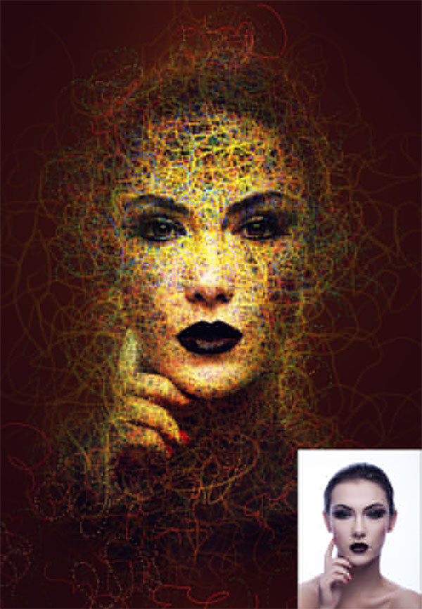 Abstract Portrait Photoshop Action Template