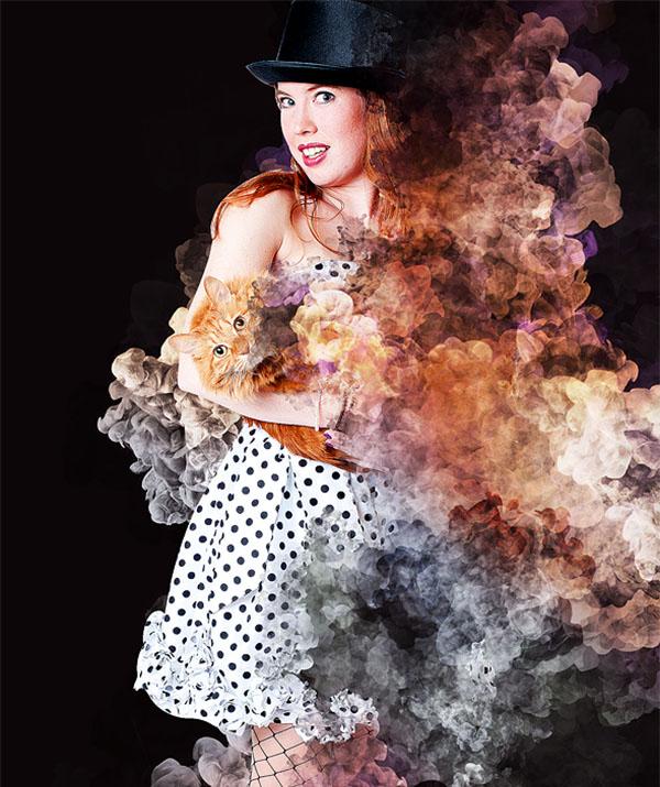 Abstract Smoke Photoshop Action