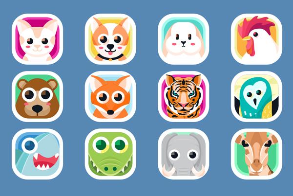 Animal App Icons Template