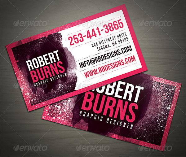 Artistic Business Card Design Template