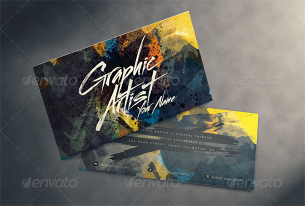 Artistic Business Card for Artists & Designers