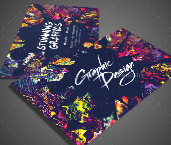 Artistic Business PSD Card Template