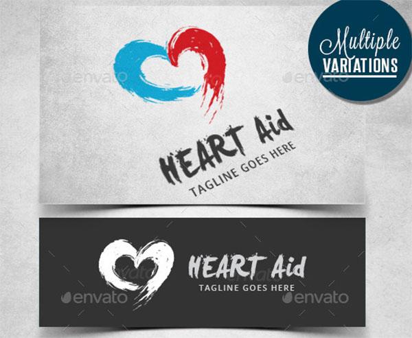 Artistic Heart Logo Template