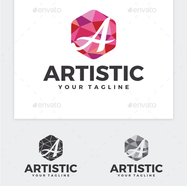 Artistic Letter A Logo Template
