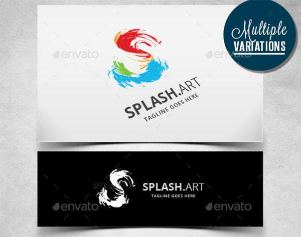 Artistic Splash Logo Template