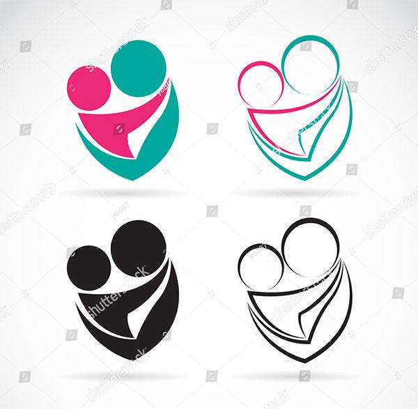 Baby Care Logo Design Template