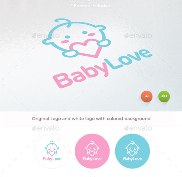 Baby Love Logo Designs