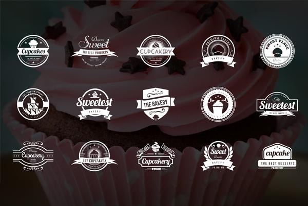 Bakery, Cupcakes & Cakes Logos