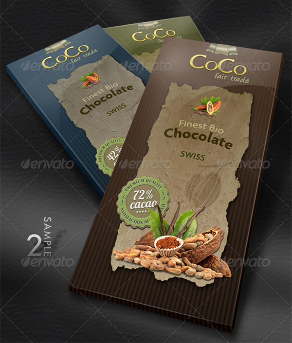 Bar of Chocolate Packaging Mock-Up