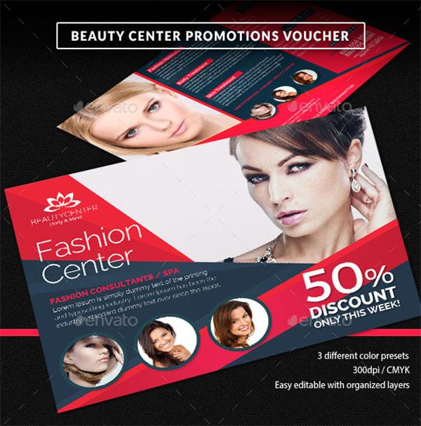 Beauty Center Discount Voucher Template