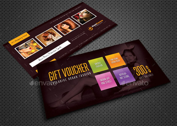 Beauty Fashion Gift Design Voucher