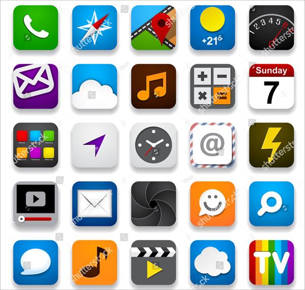 Best Vector Illustration App Icons set