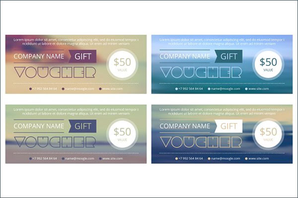 Blank Design Gift voucher Template