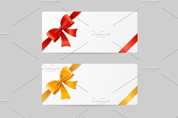 Blank Gift Card Template Design