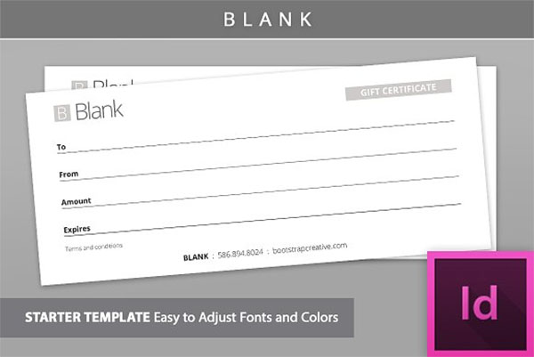 Blank Gift Voucher Template Design
