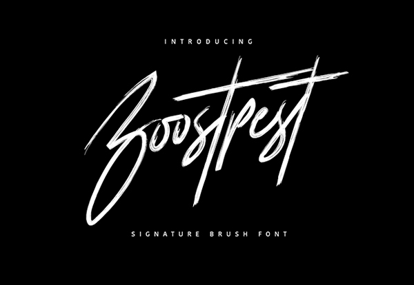 Boostpest Brush Cursive Handwriting Font