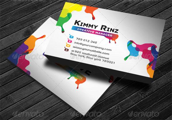Artist Business Card Templates