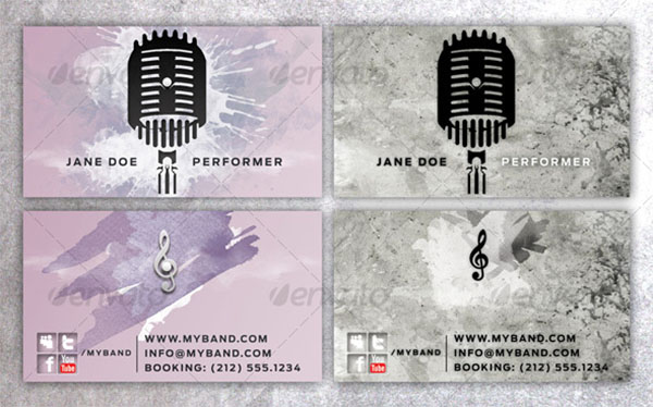 Business Card for Performing Artists