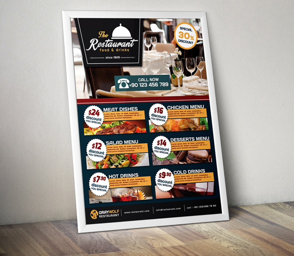 Cafe and Restaurant Flyer