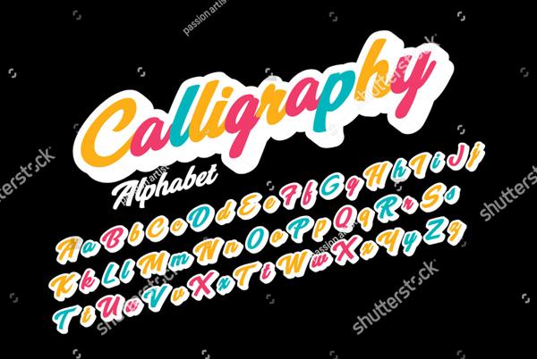 Calligraphic Cursive Font