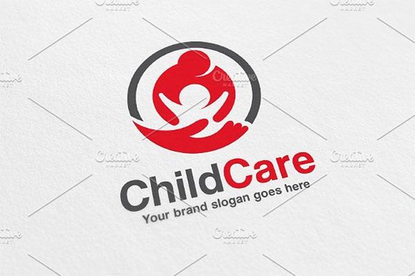 Child Care Logo Design Template