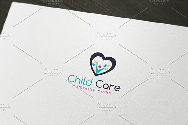 Child Care Stationery Logo Template