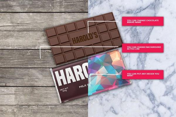 Chocolate Bar Pack Mockups