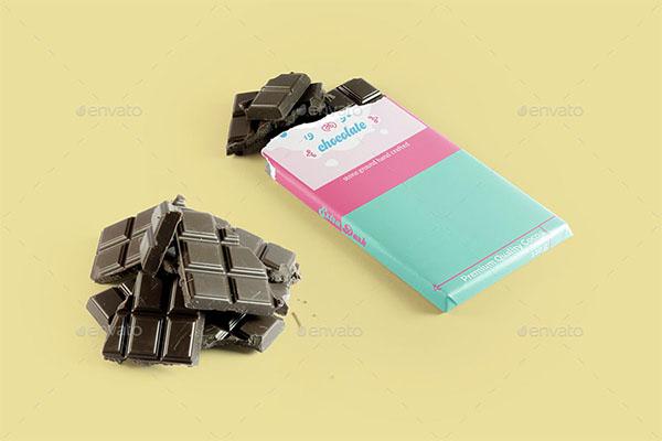 Chocolate Bar Packaging Mockup Design