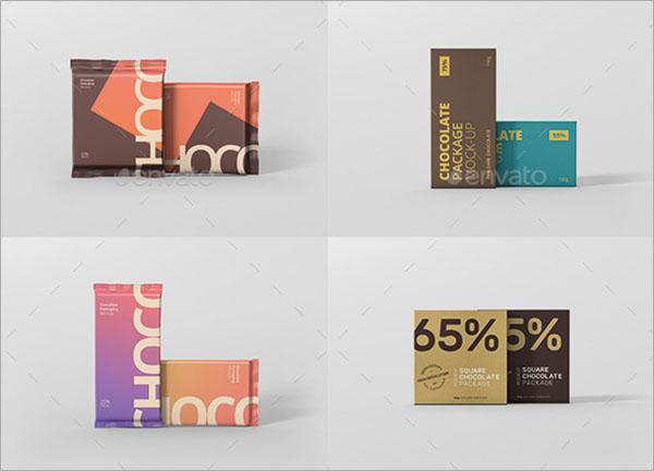 Chocolate Packaging Mockup Bundle
