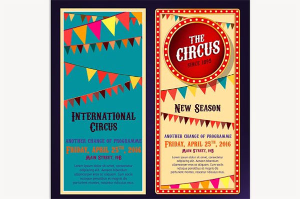 Circus Banners Templates