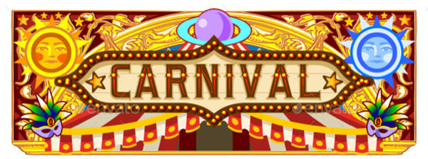 Circus Ticket Carnival Banner Template