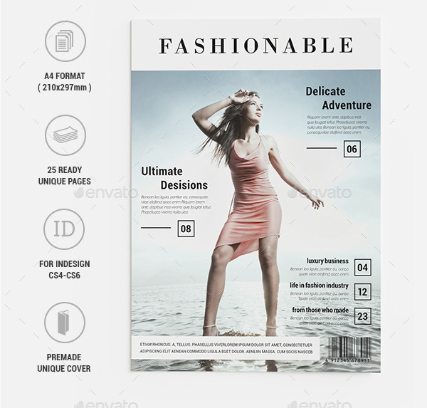 Clean InDesign Fashion Magazine Template