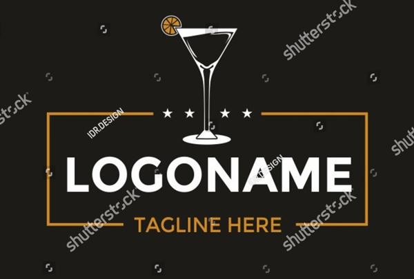 Cocktail Glass Logo Design