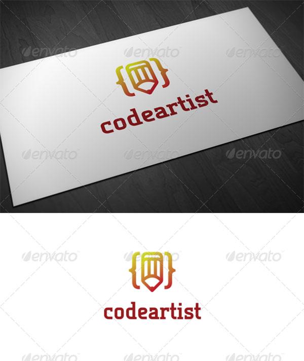 Code Artist Pencil Logo Template