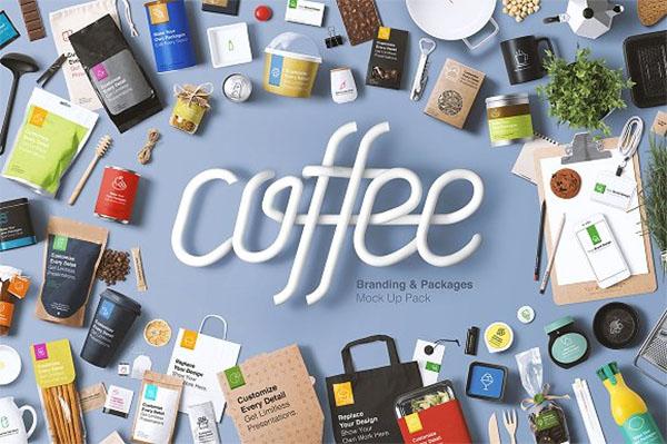 Coffee Branding & Packages Mockup