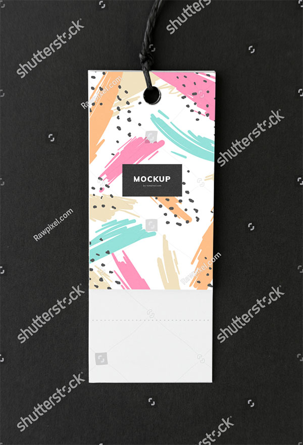 Colorful Bookmark Tag Mockup Design