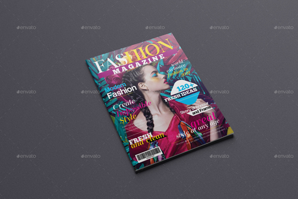 Colorful Fashion Magazine Template