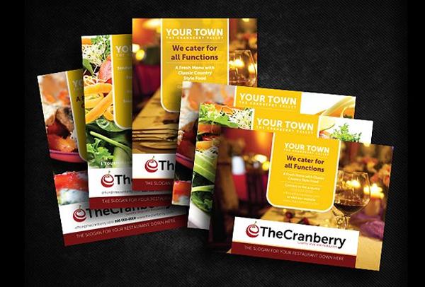 Cranberry Restaurant Advert Flyer