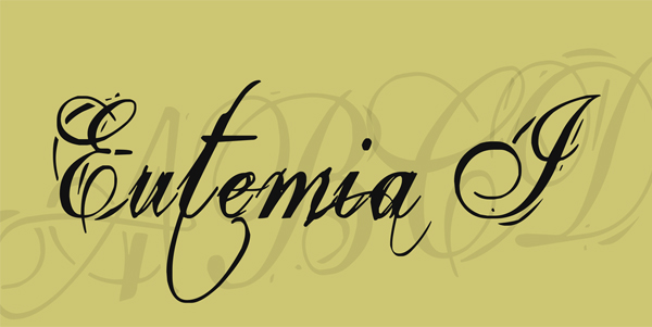Cursive Eutemia Free Font