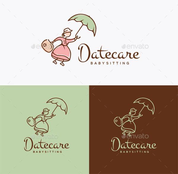Daycare Babysitting Logo