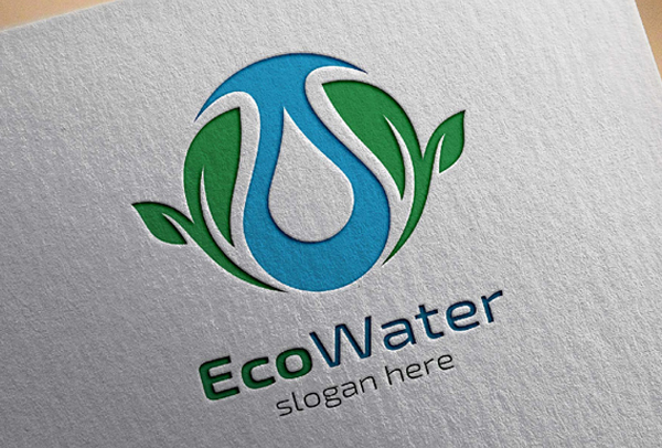 Eco Water Logo Template