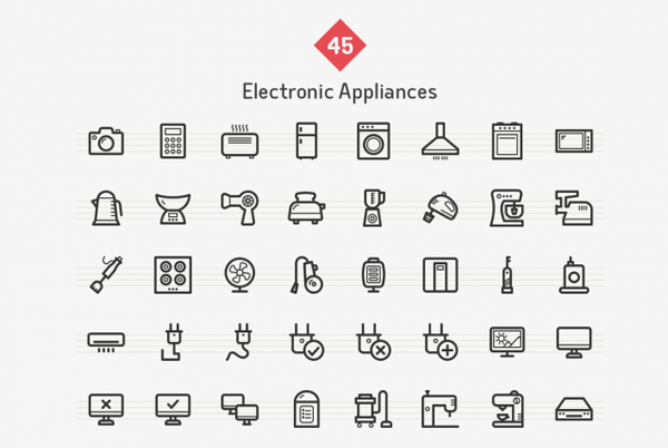 Electronic App Icons