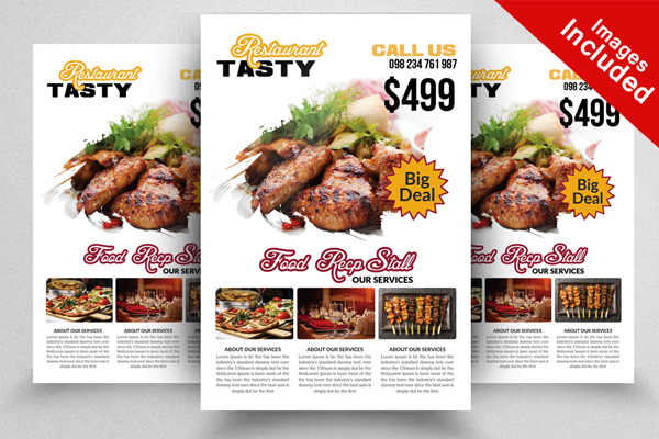 Elegant Restaurant Flyer Template