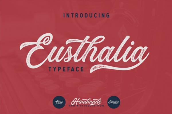 Eusthalia Typeface Handwriting Font