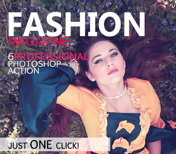 Fashion Magazine Photoshop Action