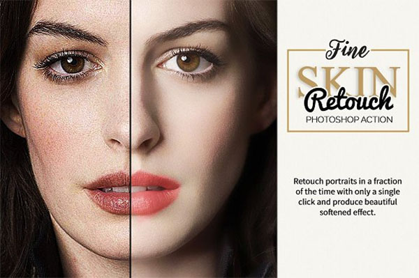 Fine Skin Retouch PSD Action