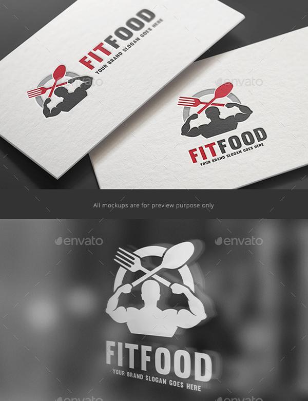 Fitness Food Logo Template