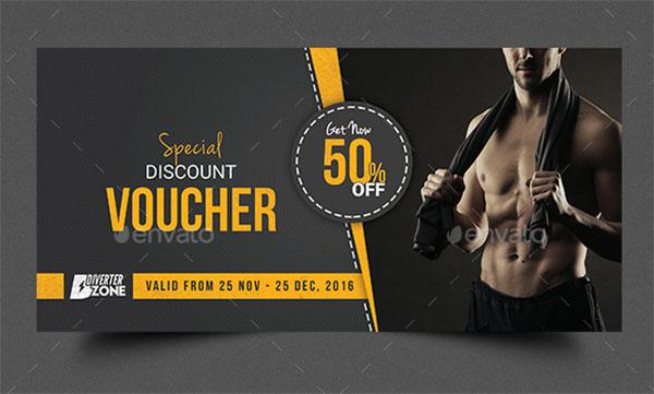 Fitness Gift Voucher Design Template