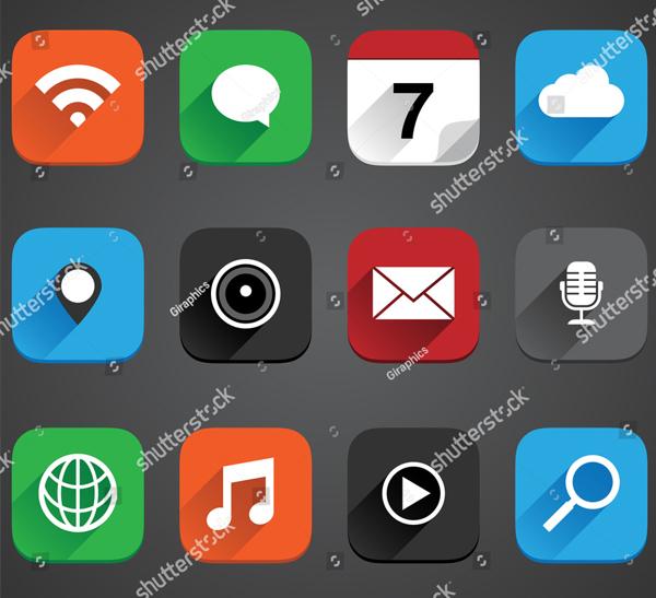 Flat App Icon Set
